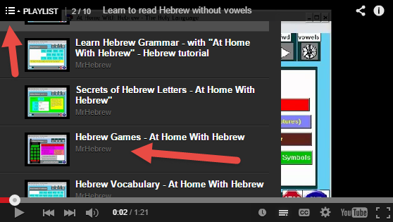 Learn hebrew numbers